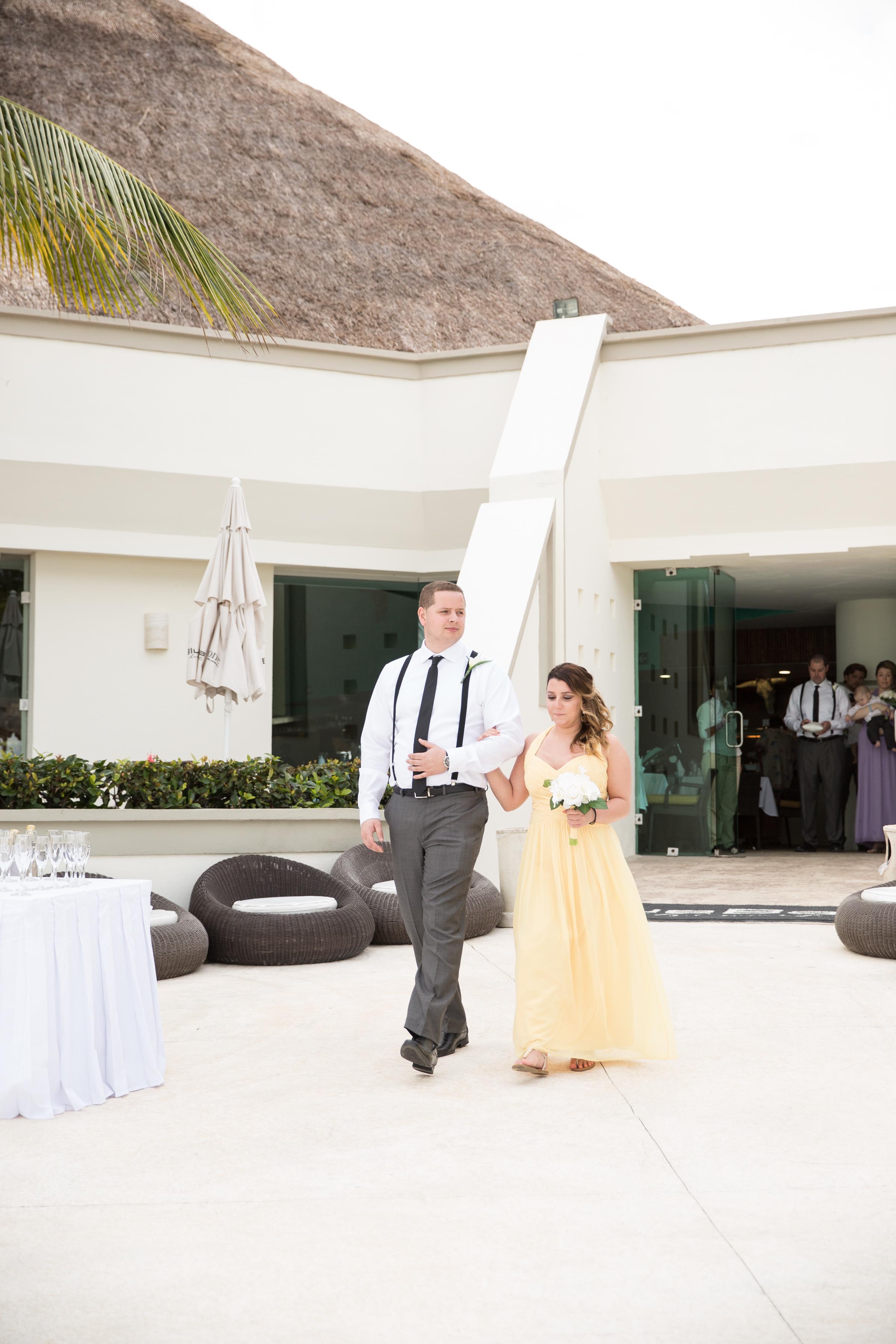 bridal party at wedding ceremony