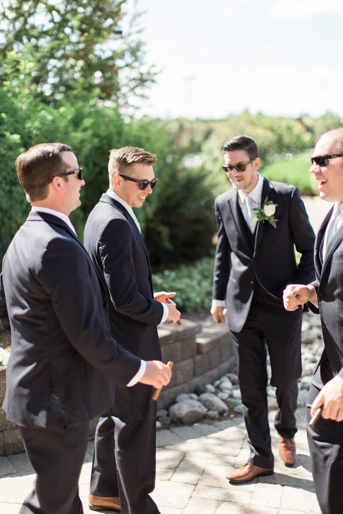 groomsmen photos outside