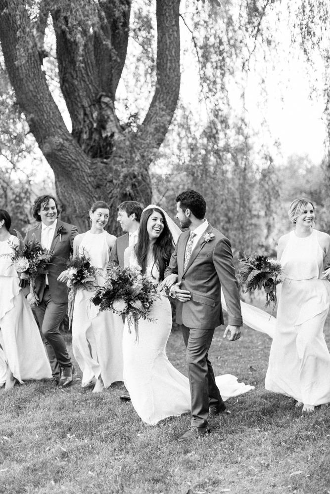 bridal party photos at aberfoyle mill