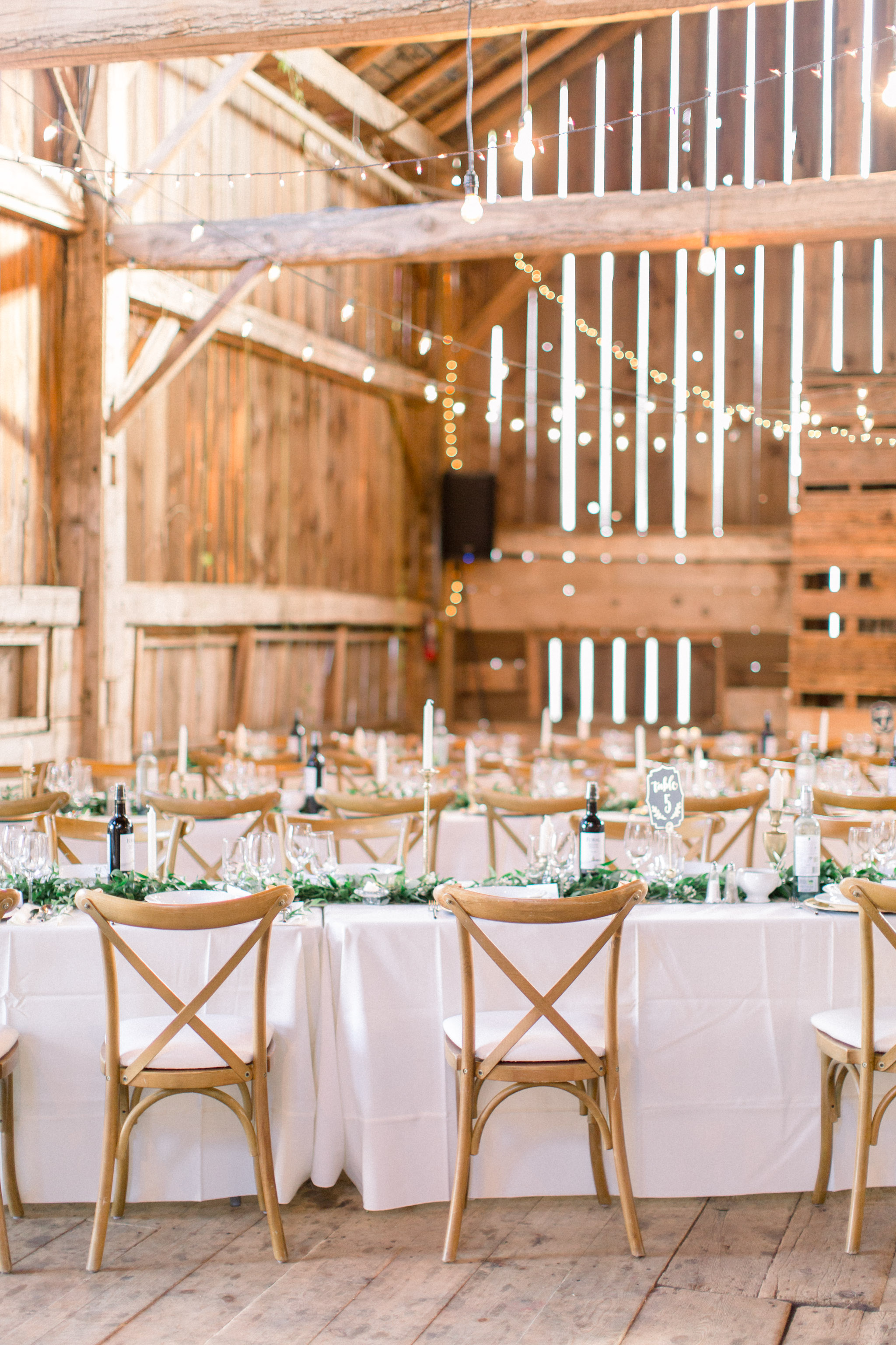 White and green wedding decor inspiration.