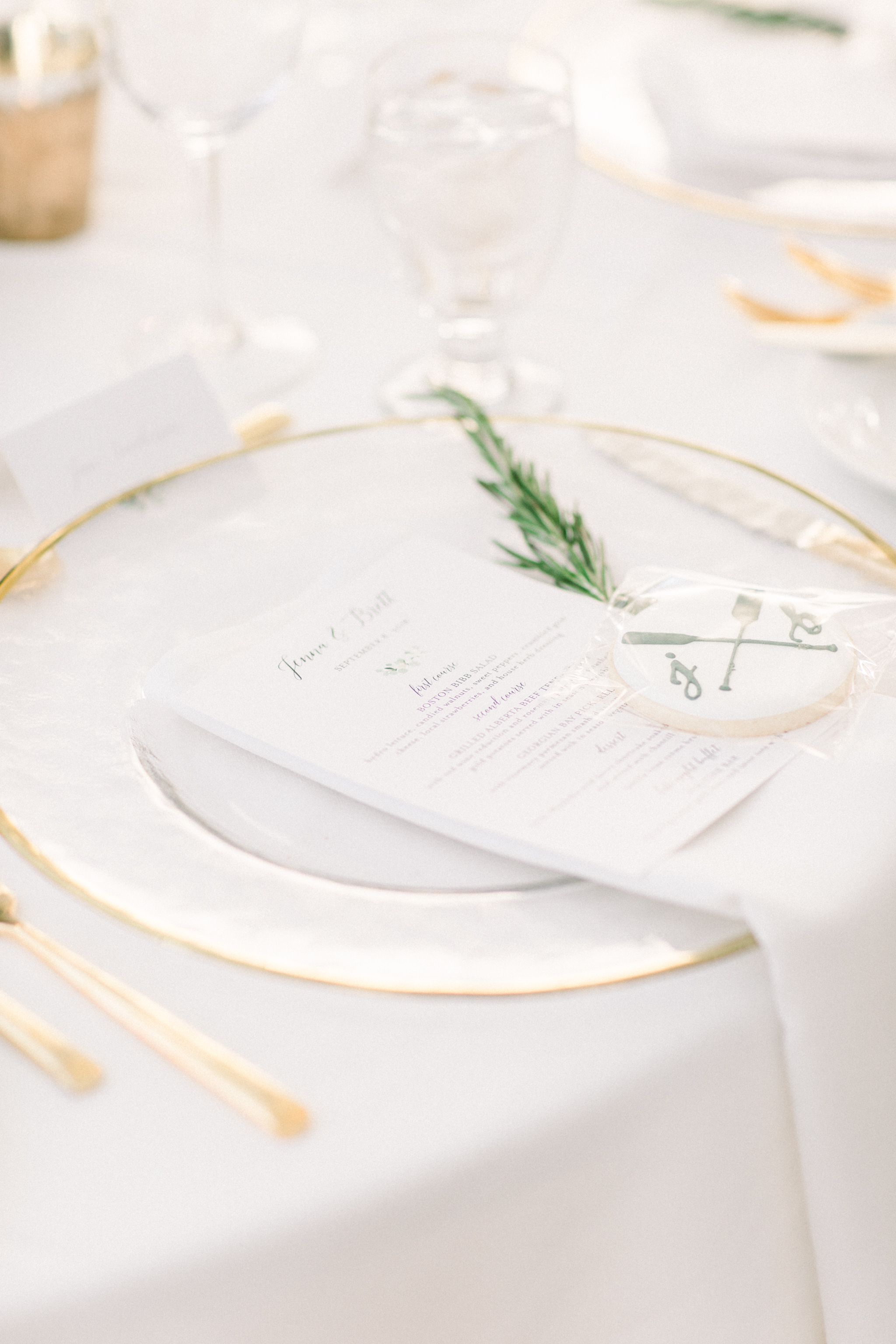 Elegant wedding details.