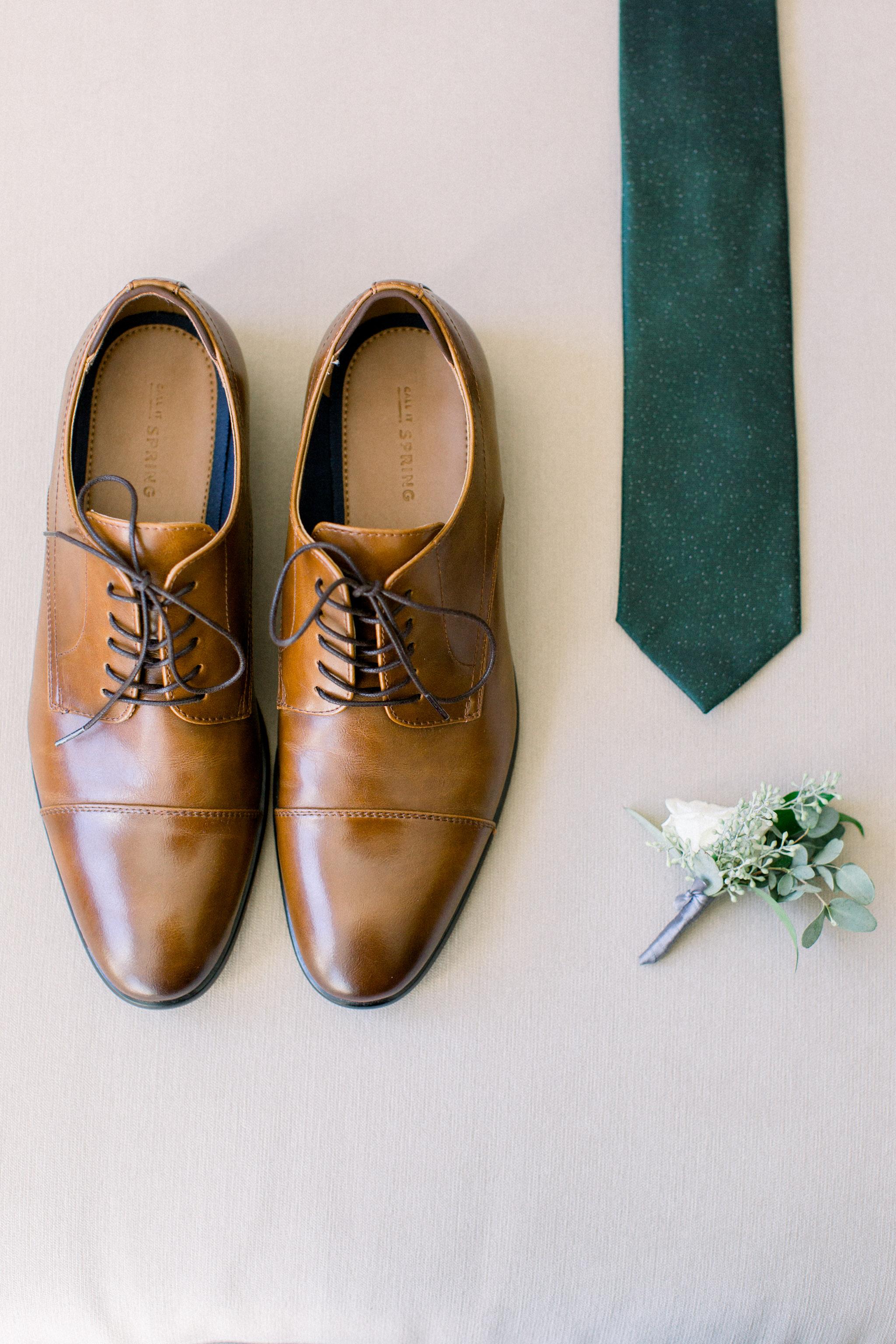 Modern groom details.