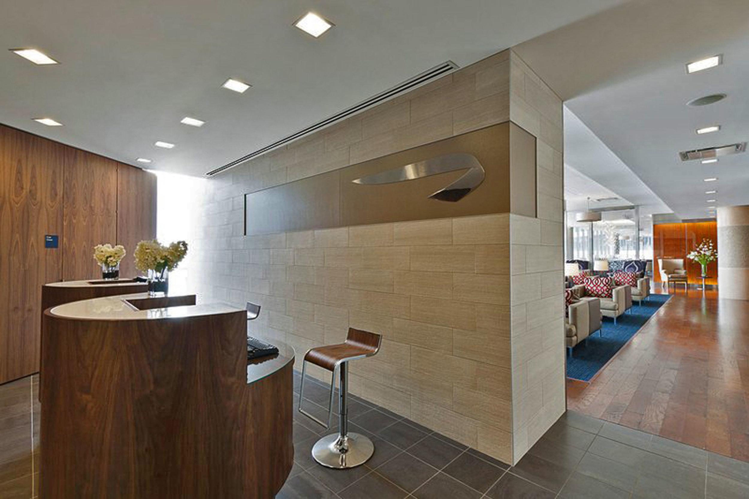 SENTIENT Furniture for British Airways Newark Airport First Class Lounge