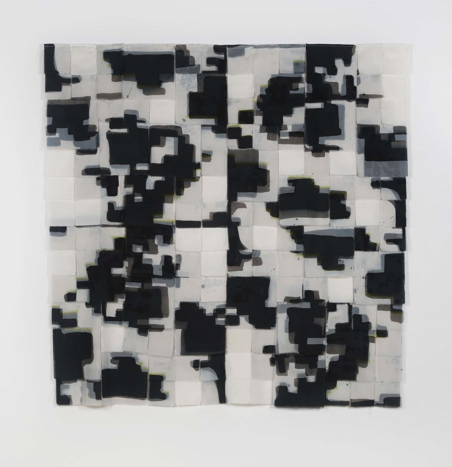 """No 3, iteration 9    dyed, sewn fabric,     69"""" w x 79.75"""" h    2016"""