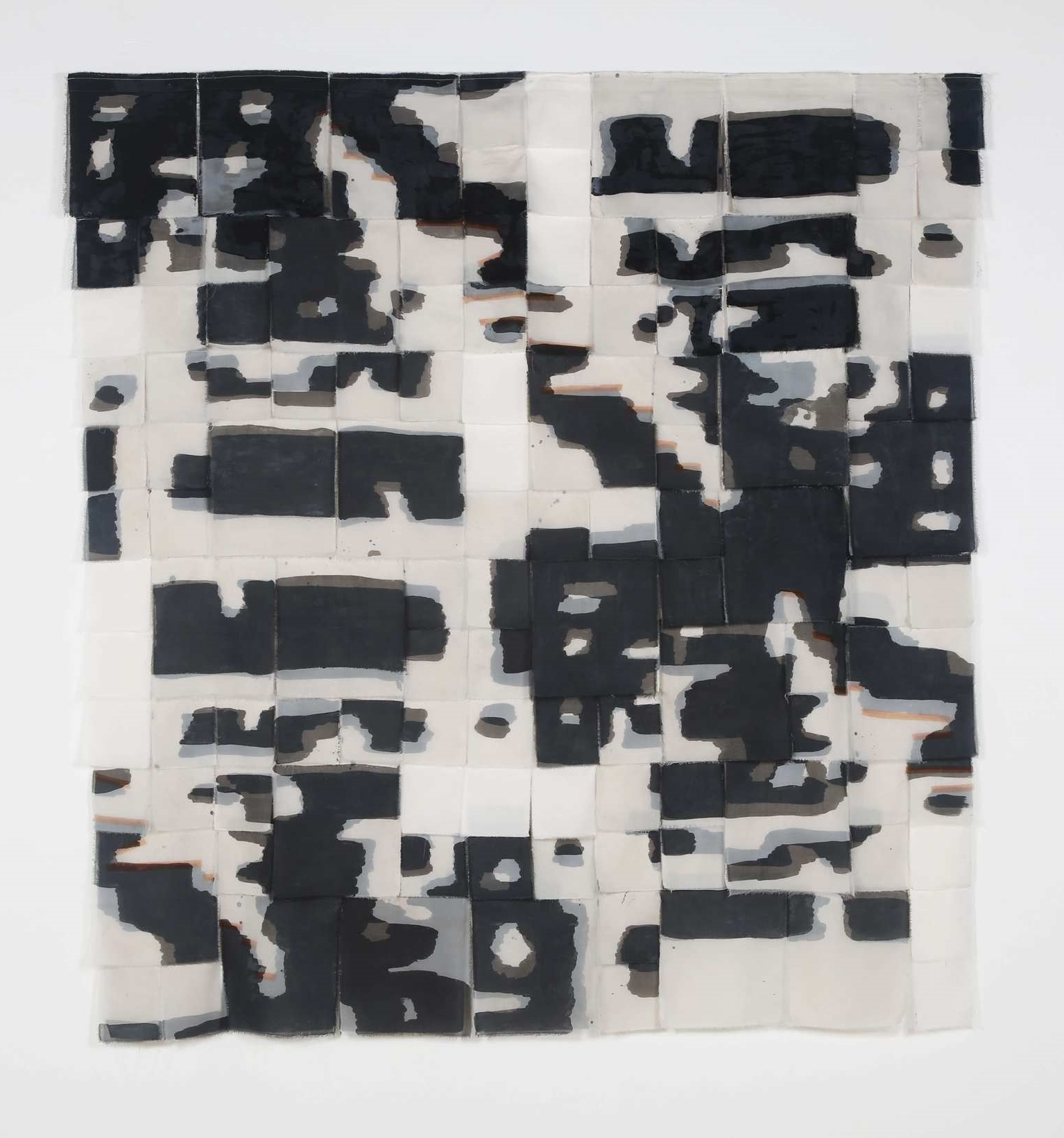 """No. 2, iteration 9   dyed sewn fabric  69"""" w x 74.5"""" h  2016"""