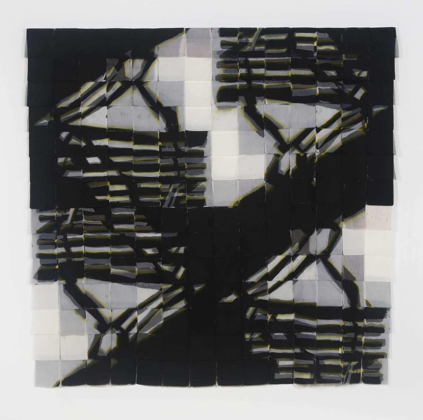 "No. 1, iteration 6    Sewn fabric    68""w  x 69""h    2016"