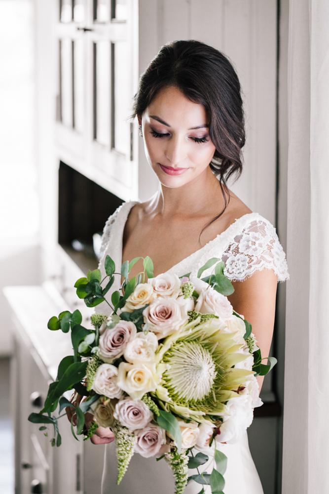 Native + Rose Brides Bouquet - Wedding Flowers Hunter Valley