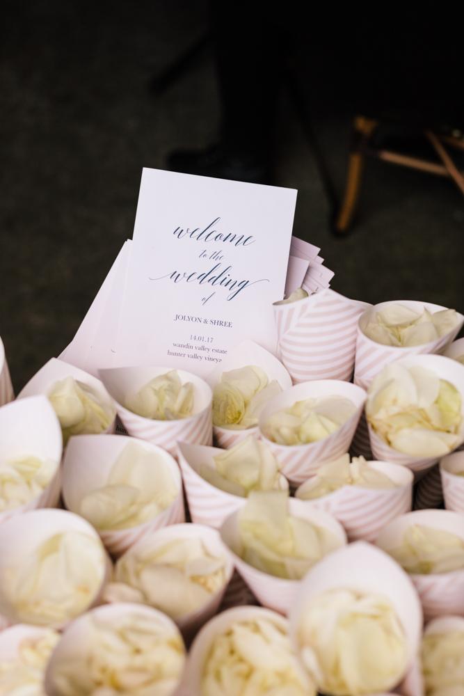 Rose Petal Confetti  - Wedding Flowers Hunter Valley