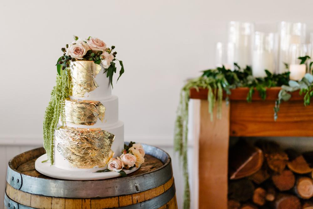 Gold Leaf Cake - Wedding Planning Hunter Valley