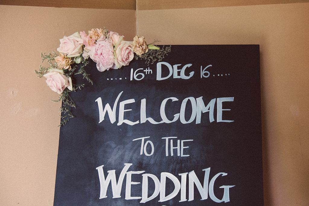 Wedding Ceremony Sign - Wedding Styling + Flowers Hunter Valley