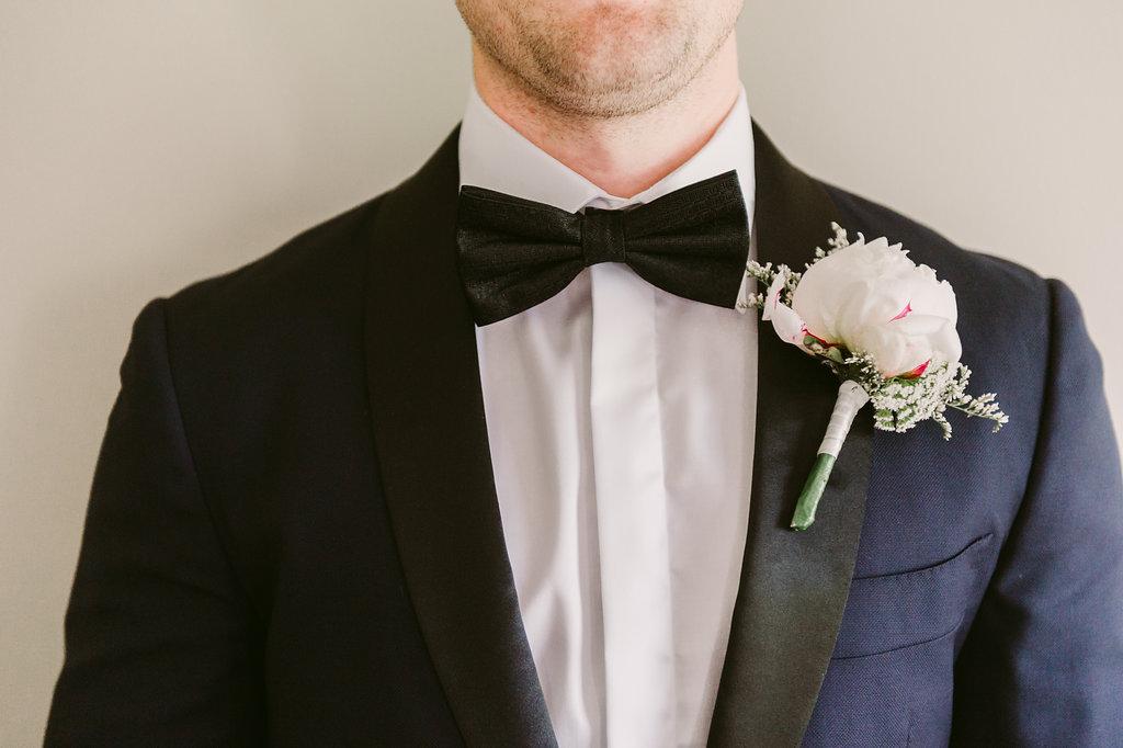 Grooms Peony Buttonhole - Wedding Flowers Hunter Valley