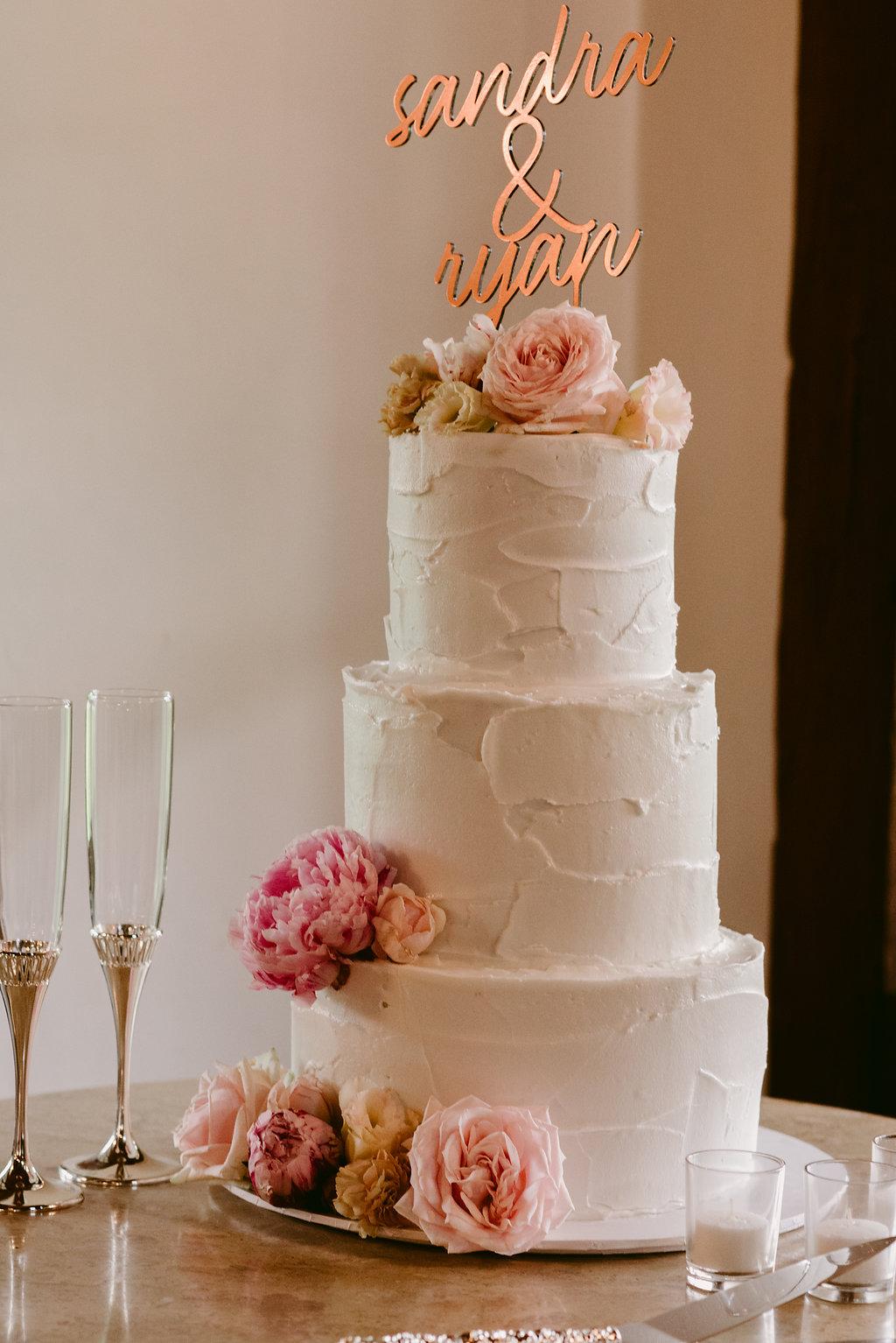 White Buttercream Wedding Cake - Wedding Planning Hunter Valley
