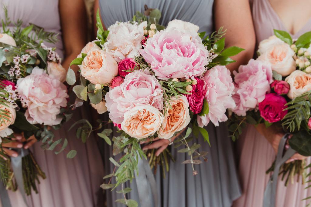 Bride & Bridesmaids Wedding Bouquets - Wedding Flowers Hunter Valley