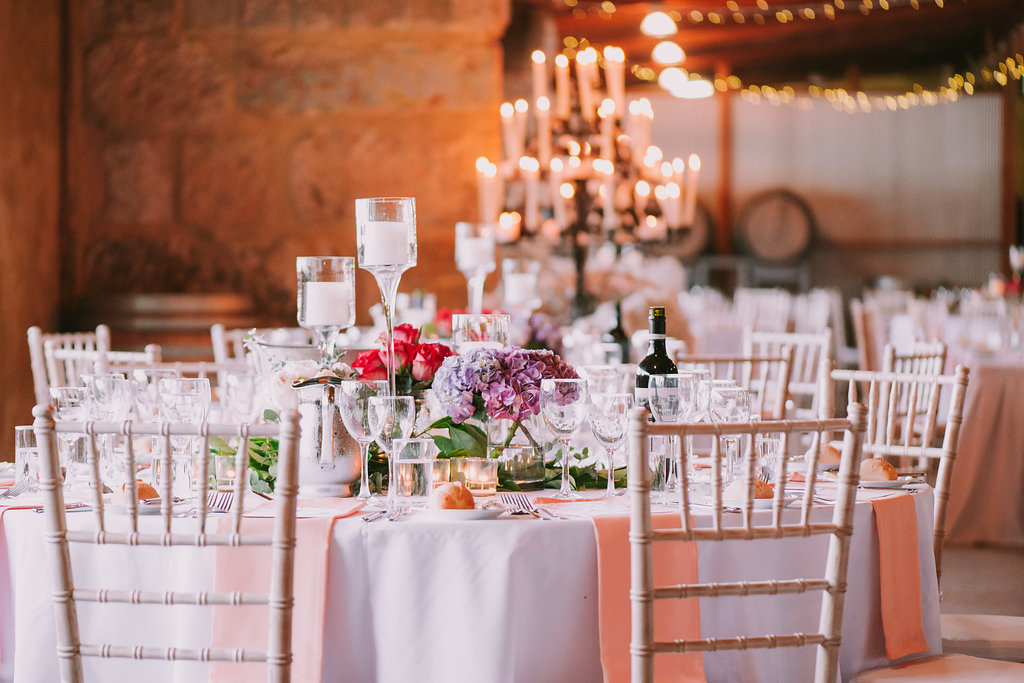 Flower Centrepieces & Tabletop Hire - Wedding Flowers & Styling Hunter Valley
