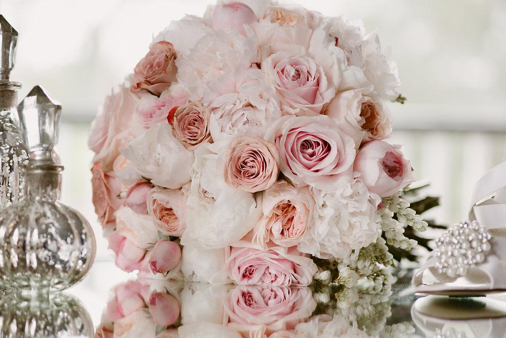 David Austins Brides Wedding Bouquet - Wedding Flowers Hunter Valley