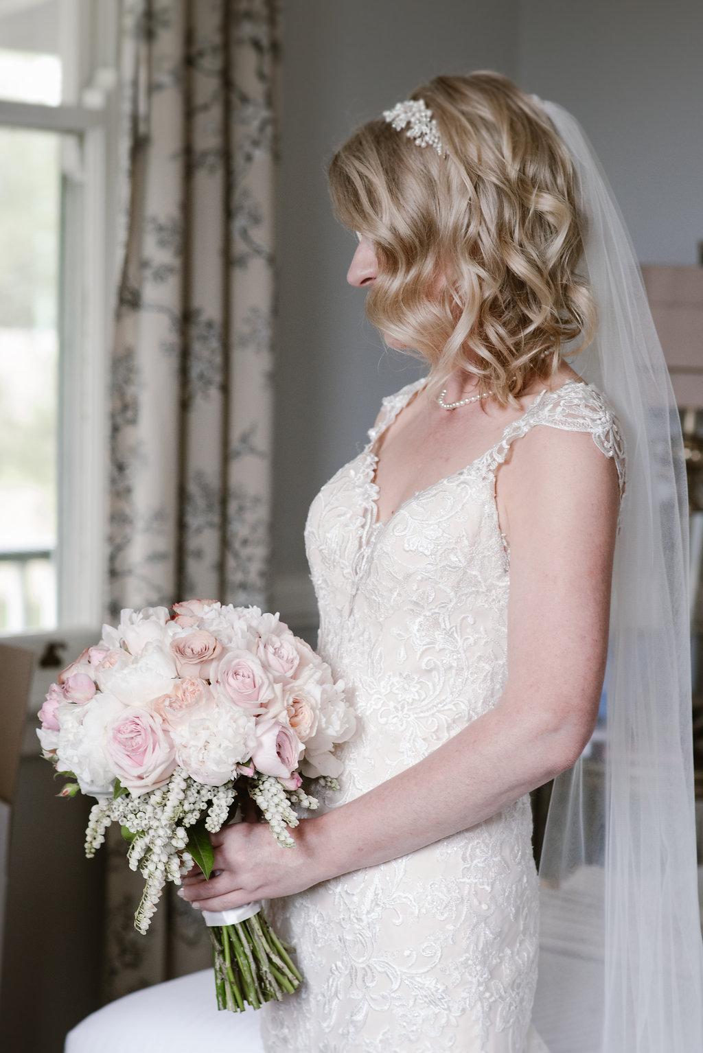 David Austin Brides Bouquet - Wedding Flowers Hunter Valley