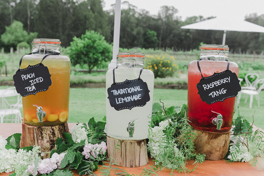 Rustic Lemonade Stand - Wedding Styling Hunter Valley