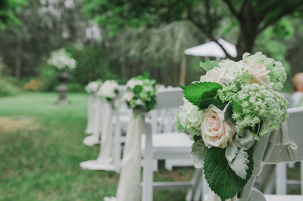 Ceremony Pew Flowers - Wedding Flowers Hunter Valley