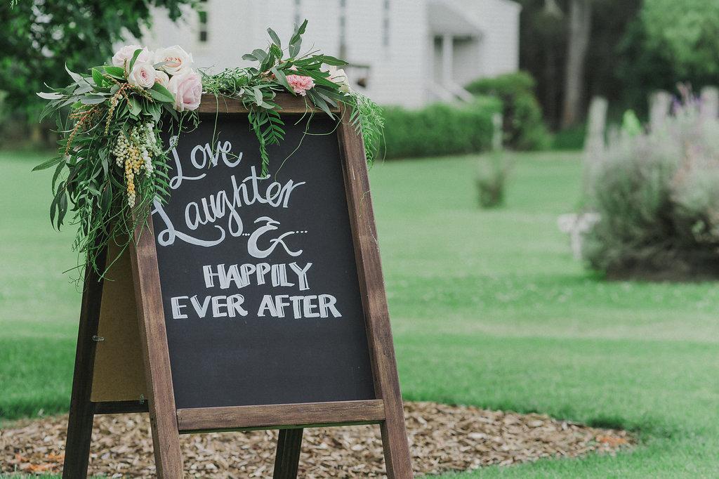Wedding Ceremony Sign - Wedding Flowers & Styling Hunter Valley