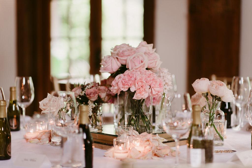 Flower Centrepieces Wedding Reception - Wedding Flowers & Styling Hunter Valley