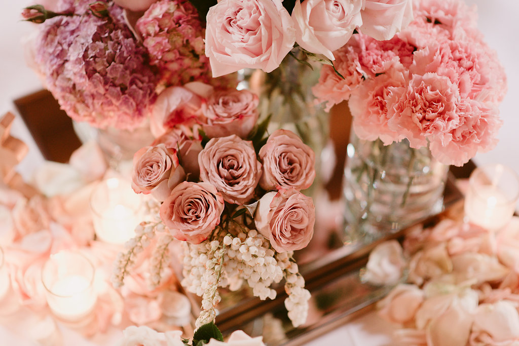 Wedding Flower & Candle Centrepieces - Wedding Flowers & Styling Hunter Valley
