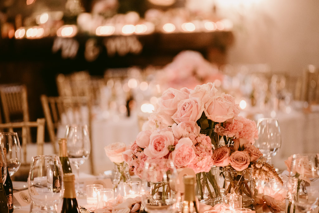 Flower and Candle Centrepieces - Wedding Flowers & Styling Hunter Valley