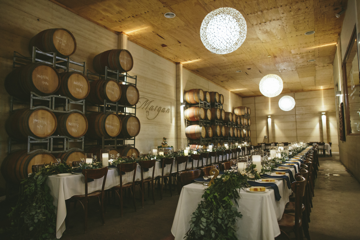 Greenery and Flower Runners Centrepieces - Wedding Flowers Hunter Valley