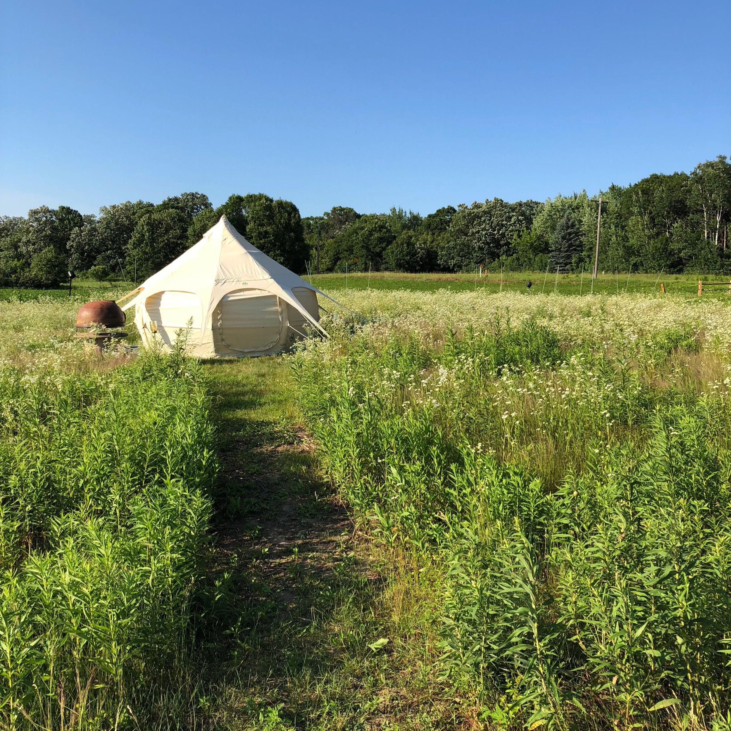 Unplug for an evening and stay off-grid on The Farm @heirloomista -