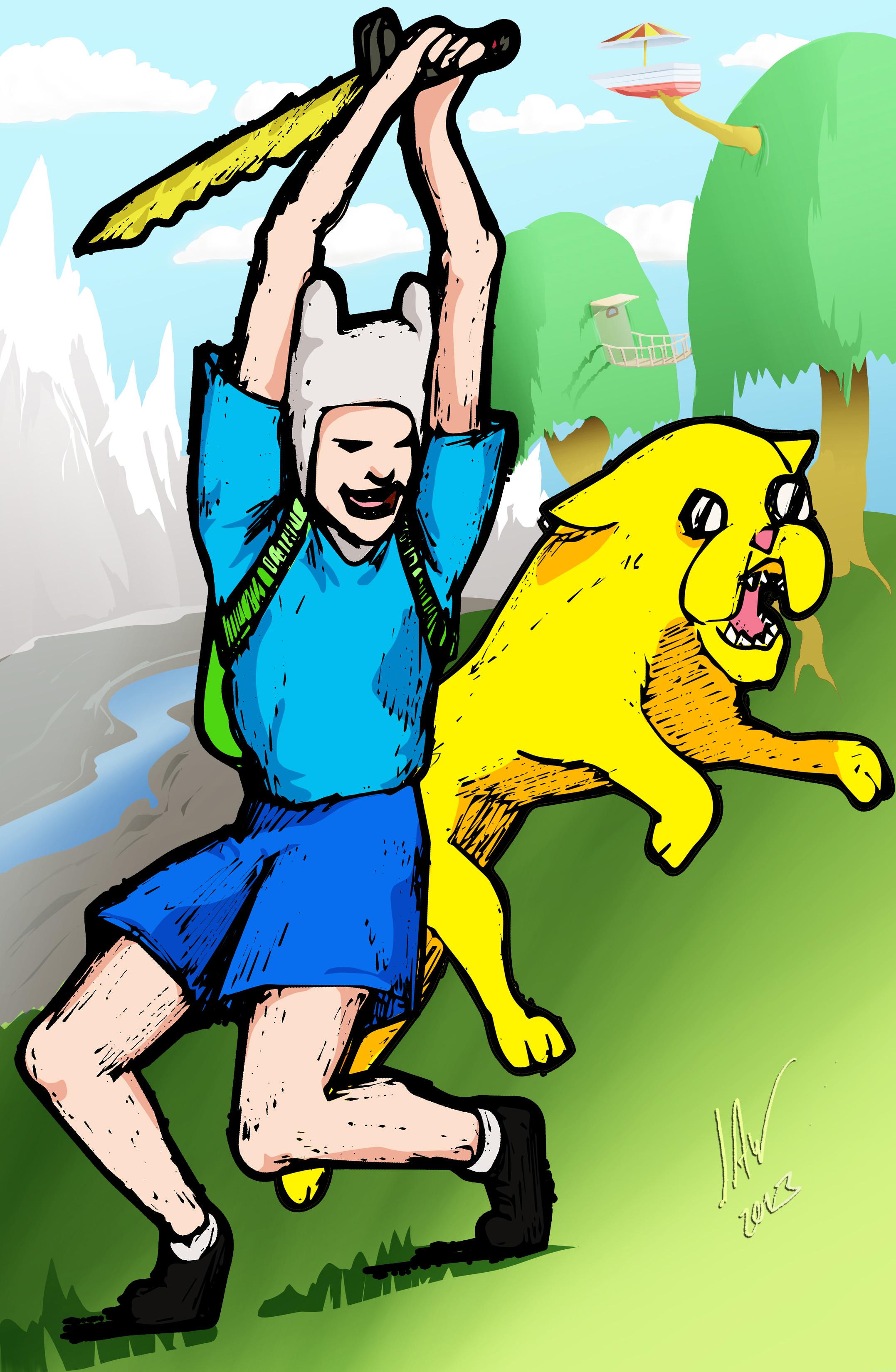 Adventure Time-Finn and Jake Manga Style 11x17.jpg