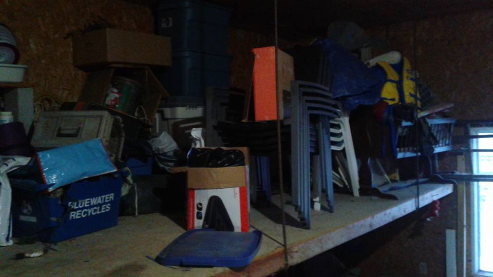 Garage mezzanine before.