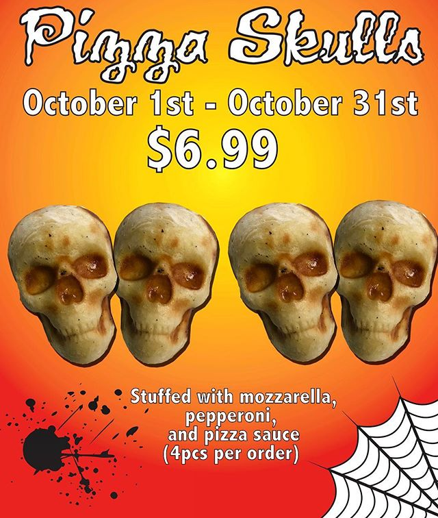 💀Pizza Skulls💀now available for a limited time.