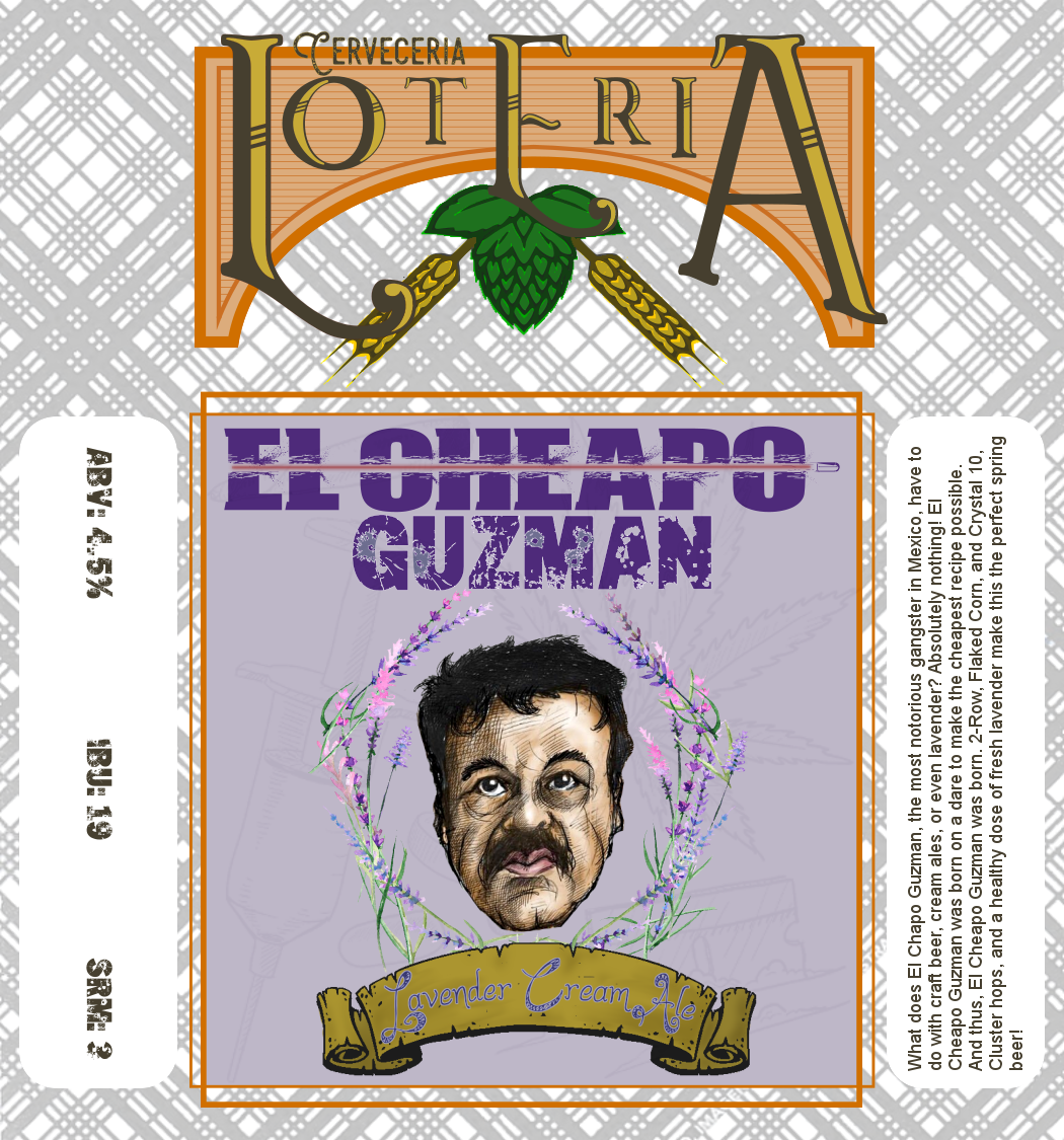 "FAN FAVORITE - The people have spoken! And their voices have cried out ""We want El Cheapo!"" that or someone has a lot of friends and figured how to vote more than once a day. Either way we dig puns here at the Homebrew Label Awards, and the cheapo-chapo pun is simple and elegant."