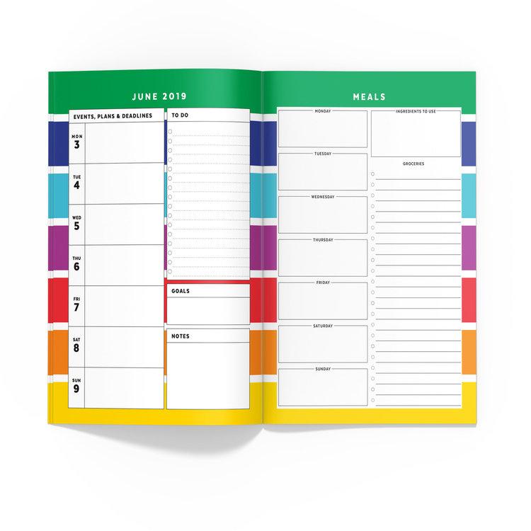 Rainbow Stripe Travelers Notebook