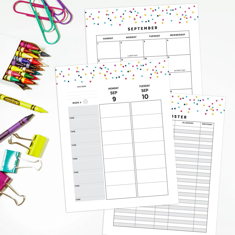 2019 - 2020 Teacher Planner   Vertical   Signature Confetti — Confetti  Saturday