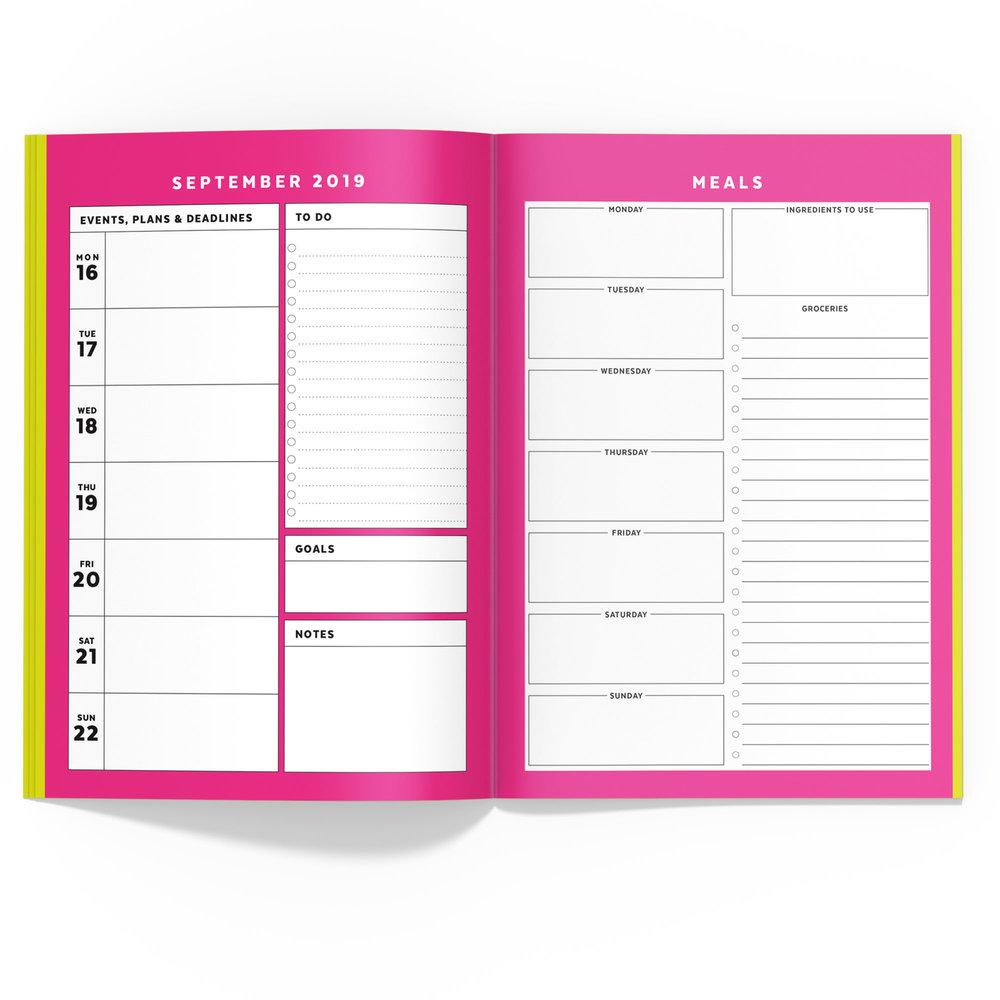 Fluorescent Travelers Notebook