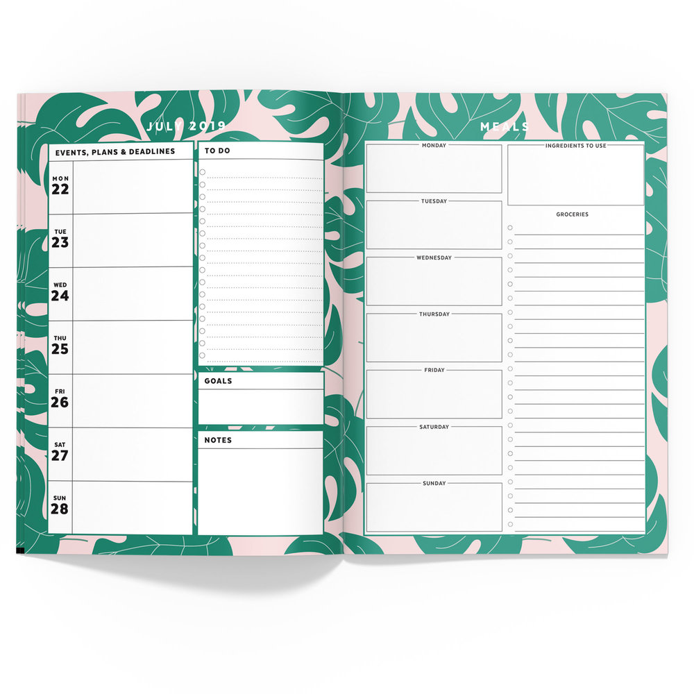 Palm Fronds Travelers Notebook