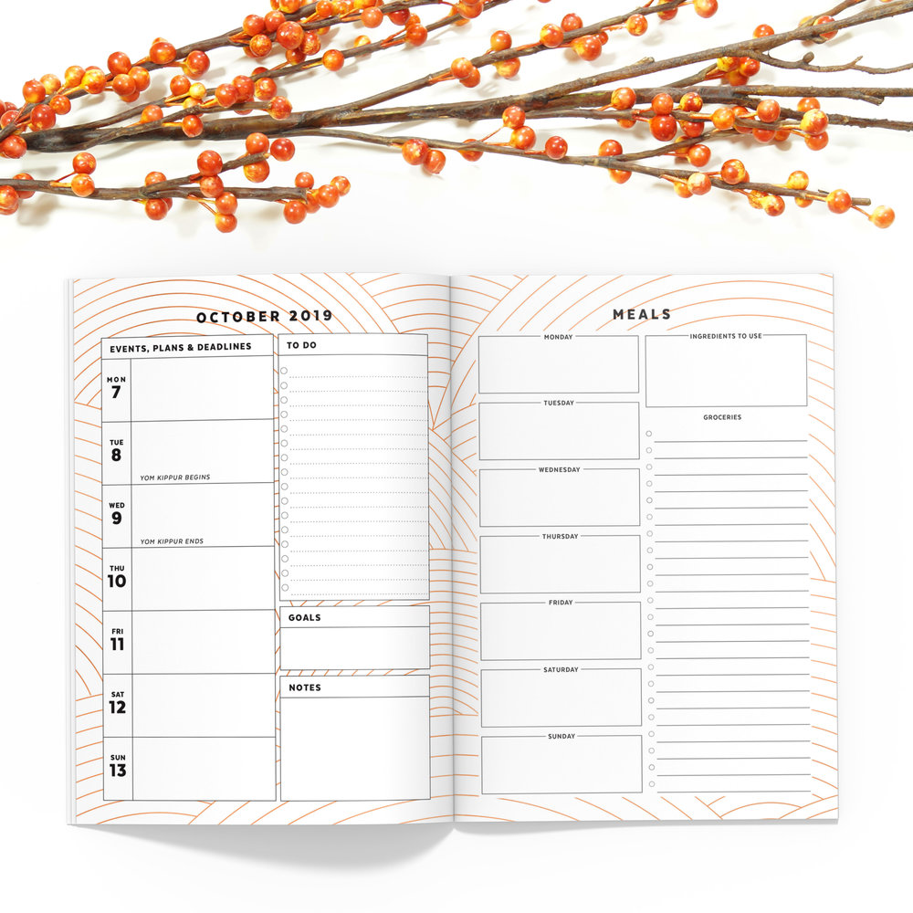 Copper October 2019 Printable Planner