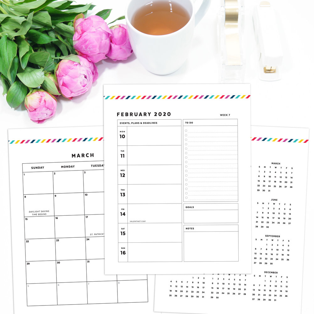 2020 Day Planner Printable