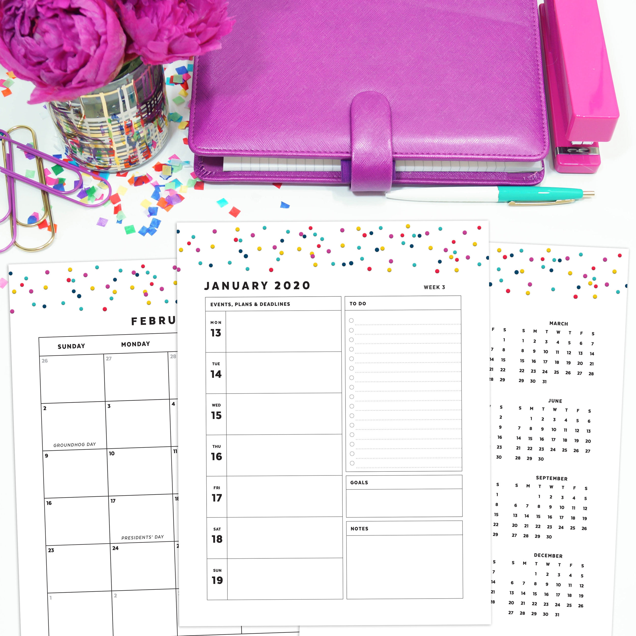 Printable 2020 Planner Pages