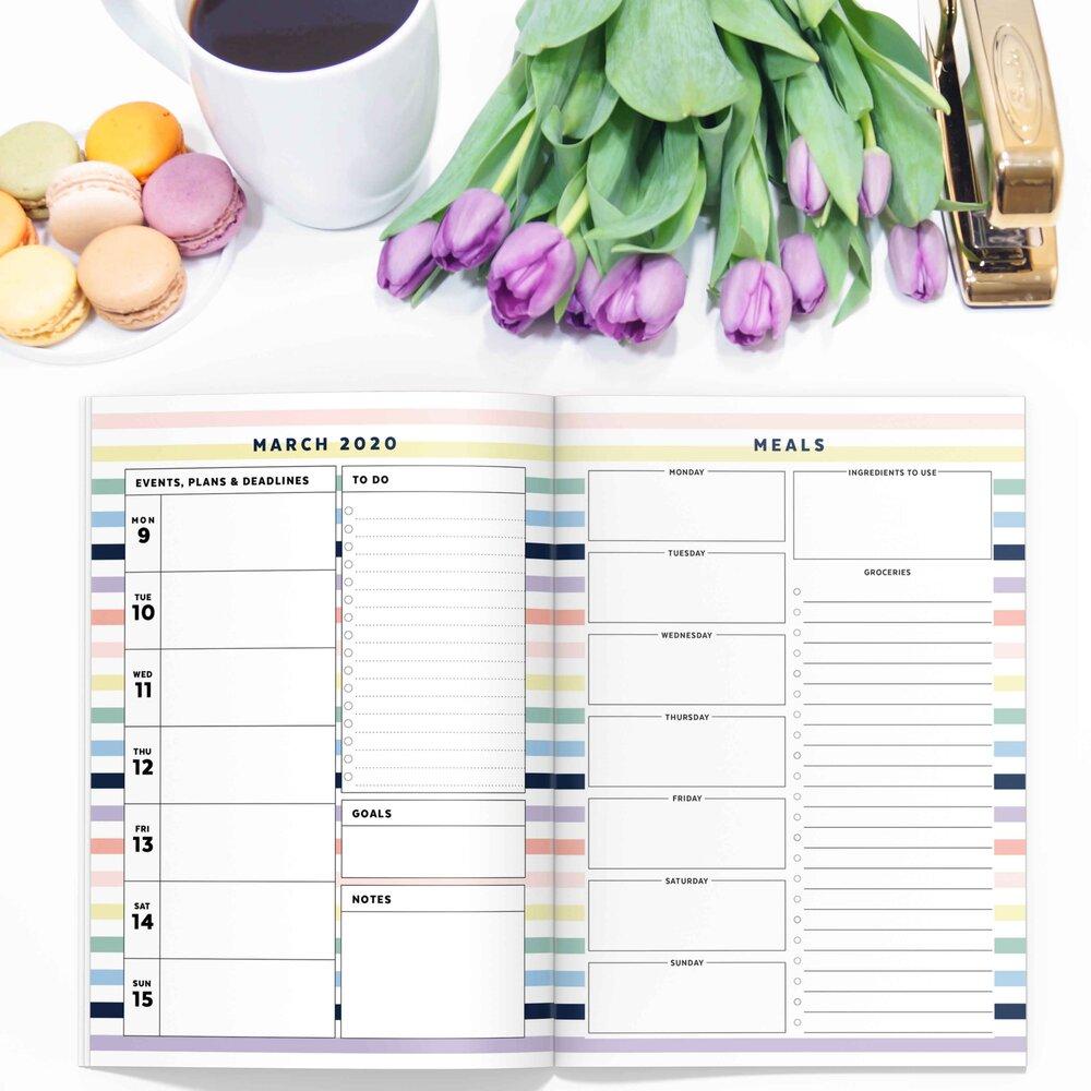 Pastel Stripe Printable Planner
