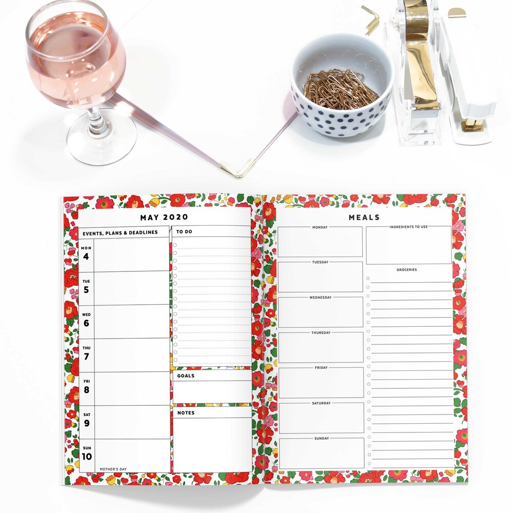 Red Floral Printable Planner