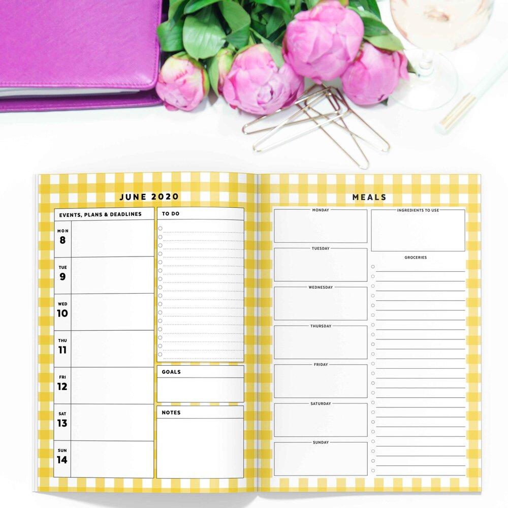 Yellow Gingham Printable Planner