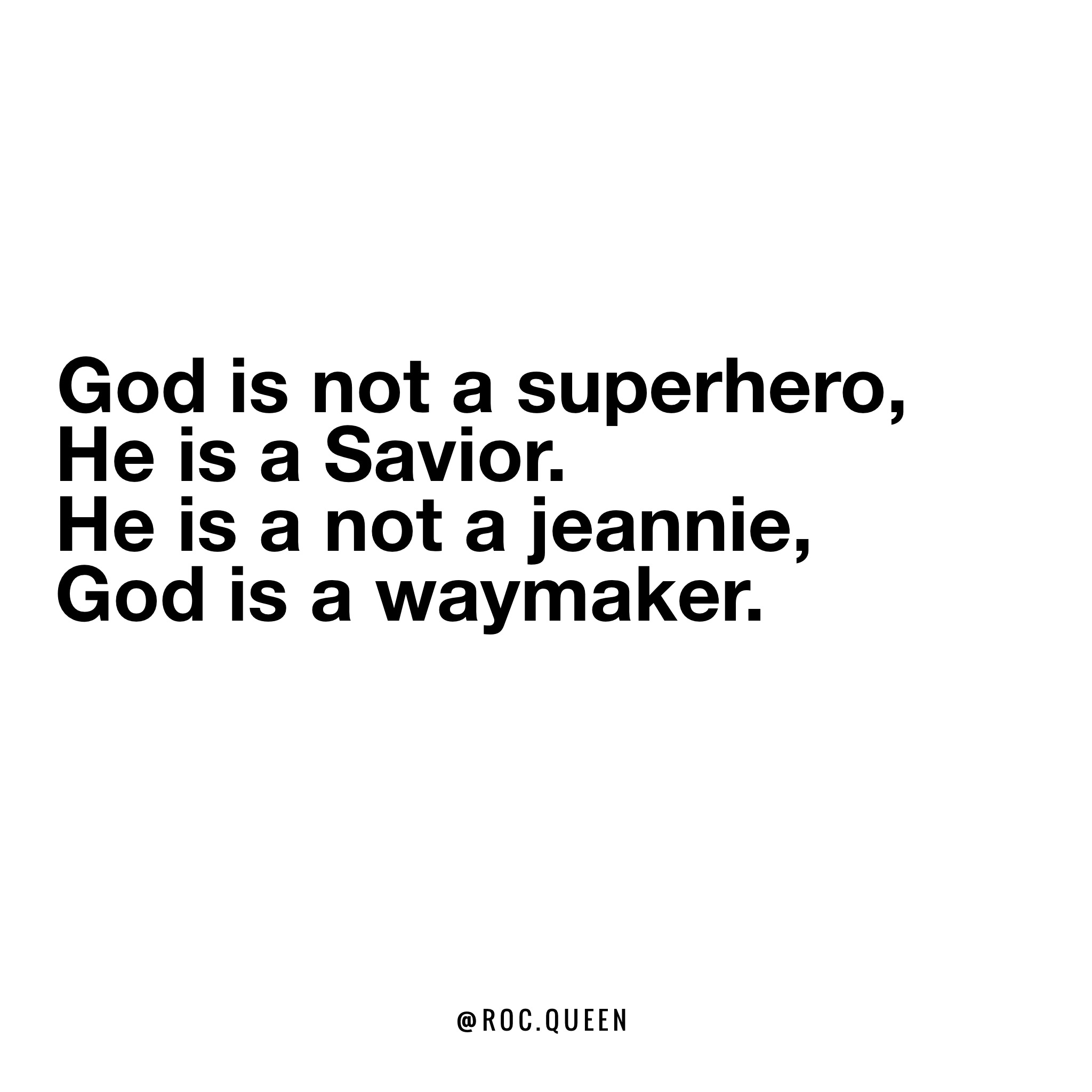 Superhero God
