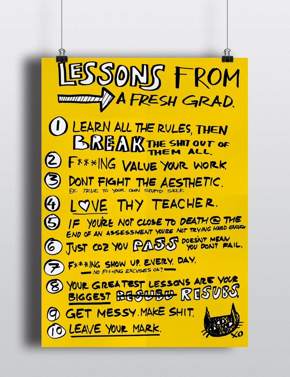 2016 Lessons from a Fresh Grad Poster