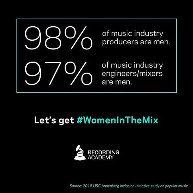 WAY past time to change this. Who are your favorite womxn and non-binary folx who produce, mix, and engineer? #womeninthemix