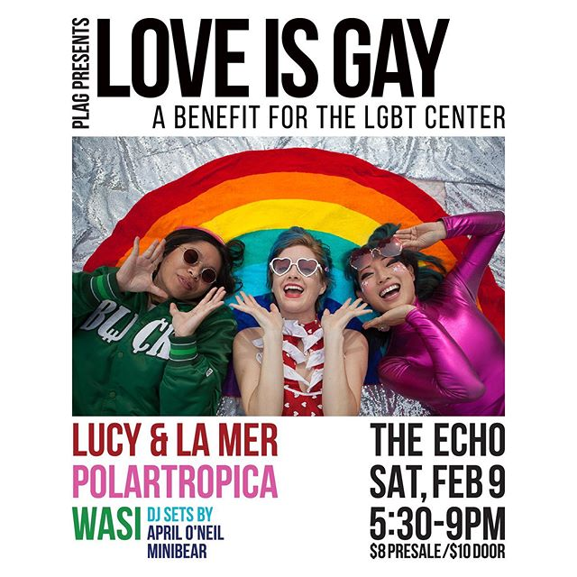 🌈🌈🌈 Saturday we party with @lucyandlamer @polartropica and @wasimusic 🌈🌈🌈
