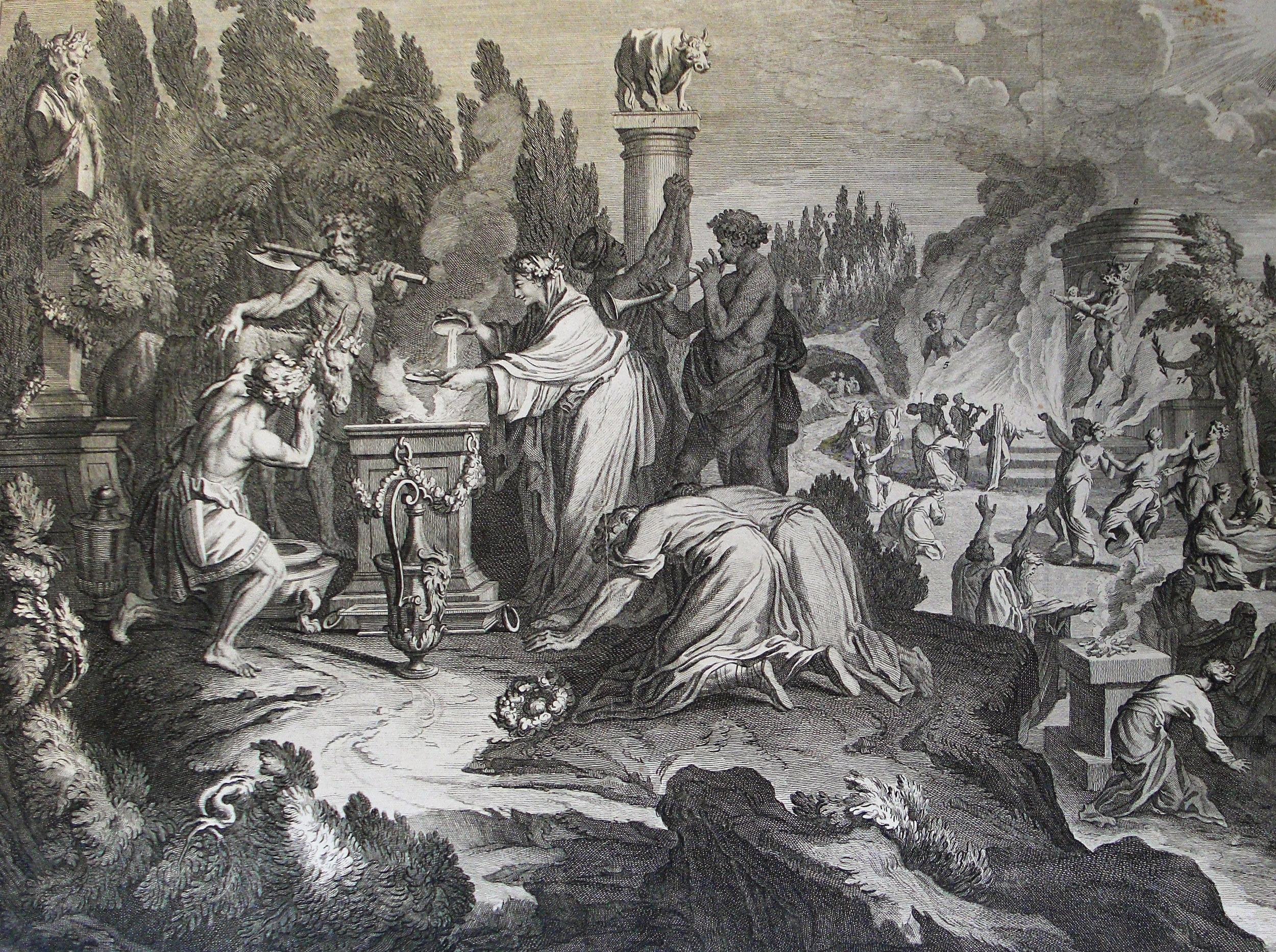 The Phillip Medhurst Picture Torah 586. Idolatry with Baal-peor. Numbers cap 25 vv 1-8.  By Philip De Vere (Own work) [CC BY-SA 3.0 (http://creativecommons.org/licenses/by-sa/3.0)], via Wikimedia Commons