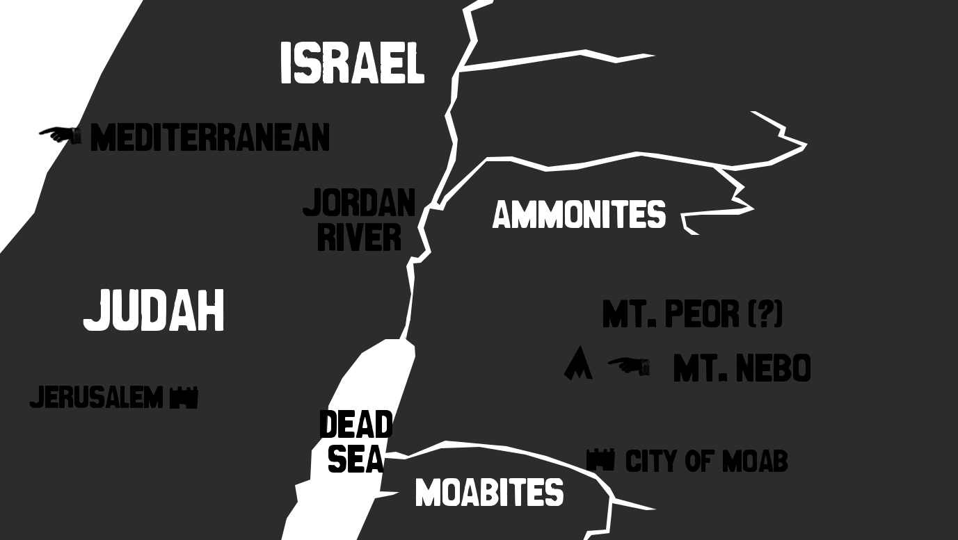 Map of Old Testament Israel drawn from [http://www.bible-history.com/geography/ancient-israel/israel-old-testament.html]