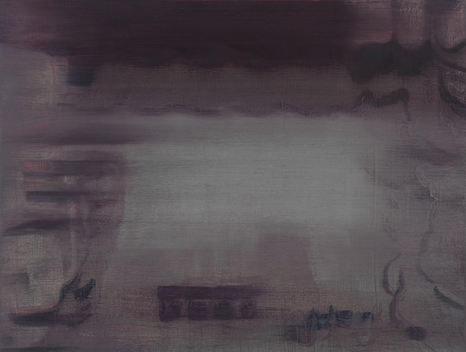 Void #5 空 5, 2014 Oil on wood board 木板上油画 12 x 16 in.