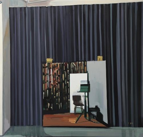 Mirror #2 镜子 2, 2013 Oil on linen 38 x 38 in. 亚麻上油画